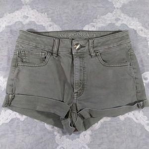 AEO High Rise Short Denim Shorts